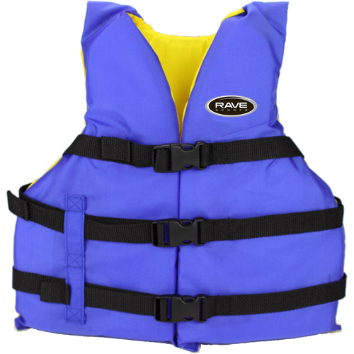 Rave Sport Universal Nylon PFD Adult Life Jacket, Blue by Generic
