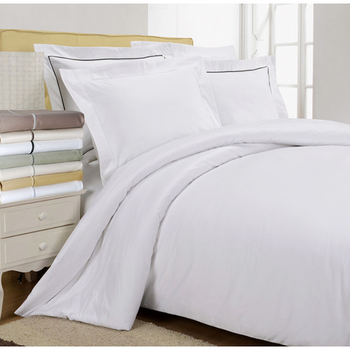 Simple Luxury 800 Thread Count Egyptian-Quality Cotton Solid Duvet Cover Set