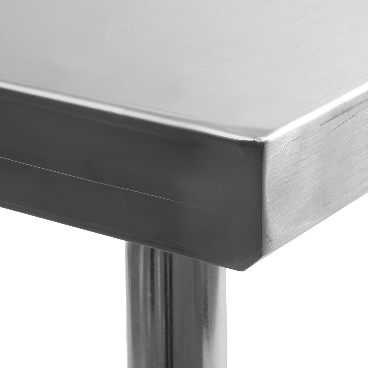 Restaurant Kitchen Work Tables costway 24'' x 48'' stainless steel work prep table with