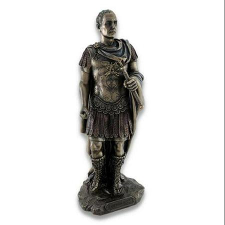 Bronzed Roman Julius Caesar Statue