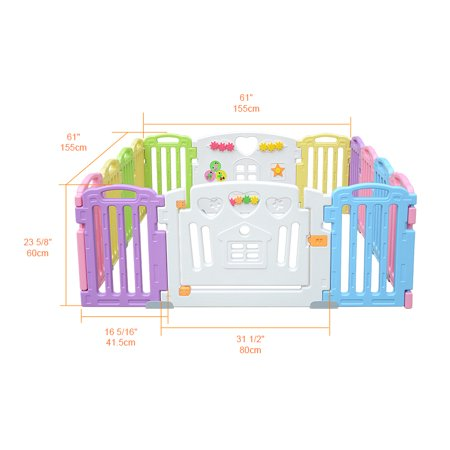 LIVINGbasics™ Baby Playpen Kids Play Yard 14 Panel Activity Centre for Home/Indoor/ Outdoor - image 2 of 8