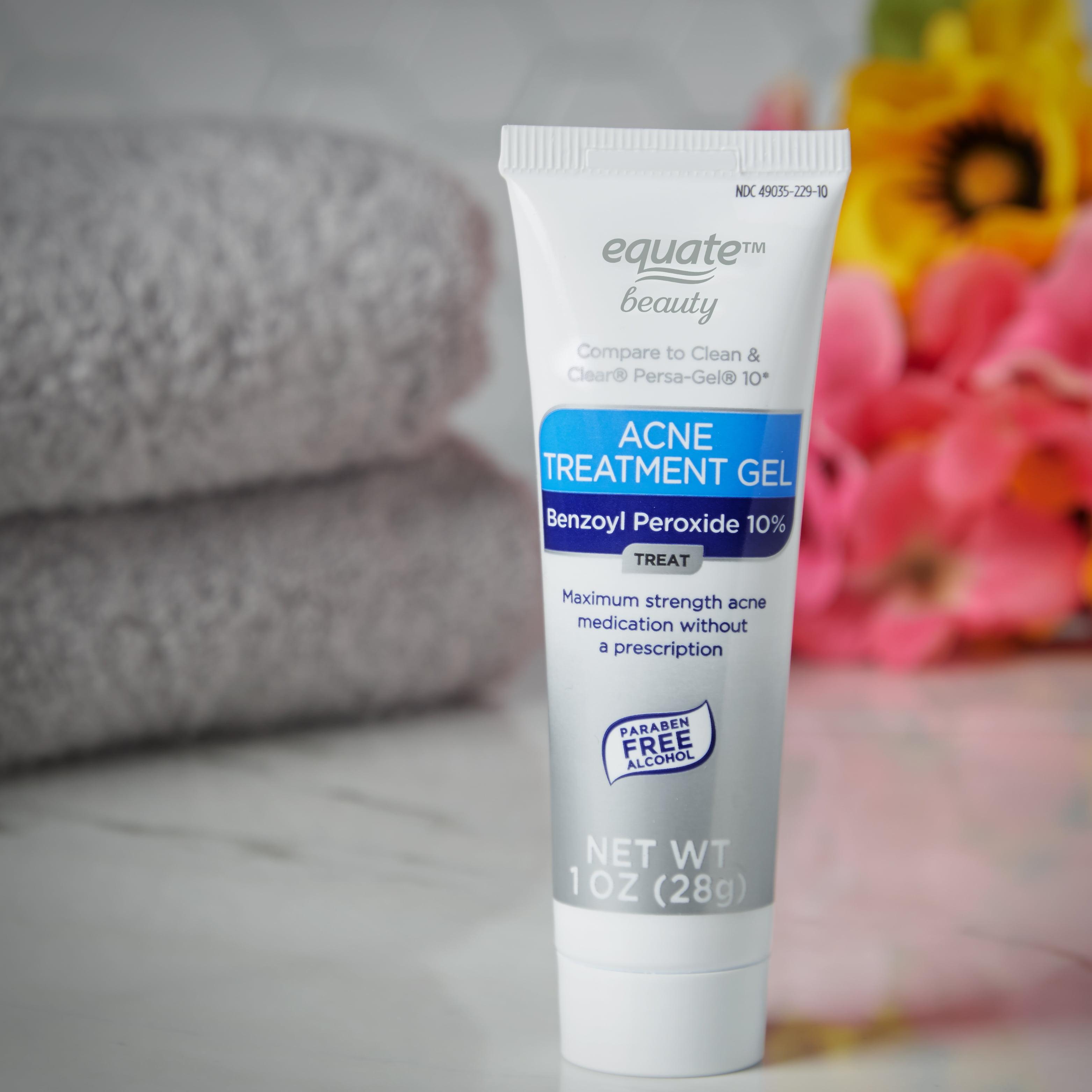 (2 Pack) Equate Beauty 10% Benzoyl Peroxide Acne Treatment Gel, 1 Oz