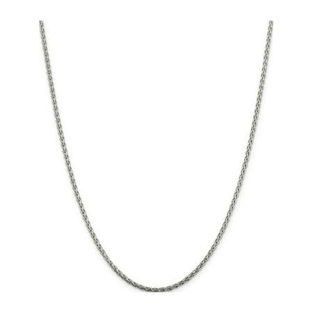 925 Sterling Silver 2mm Diamond-Cut Spiga Chain - image 5 de 5
