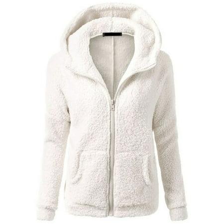 Special Blend Outerwear (EFINNY Women's Slim Hooded Thicken Fleece Jackets Winter Warm Outerwear )