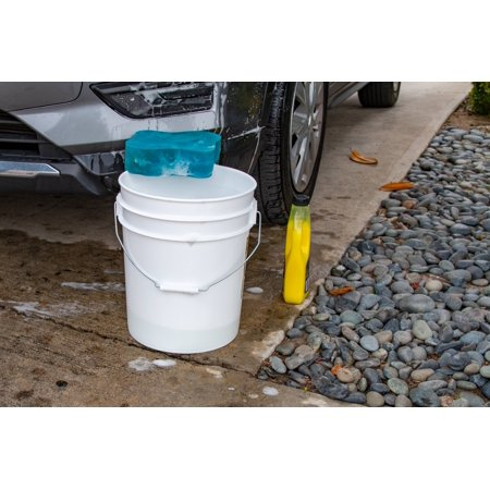 Argee 5 Gallon White Bucket, 10-Pack