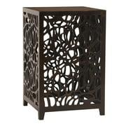 Unique Howard Elliott Knox Espresso Brown Wood Side Table Home Decor 37092