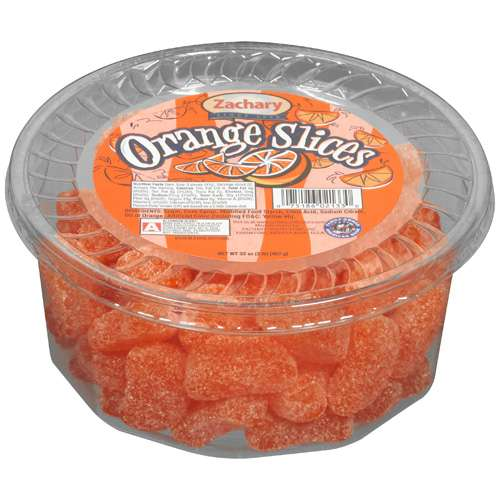 Zachary: Artificial Orange Flavored Slices Coated In Sugar Orange Slices, 32 oz