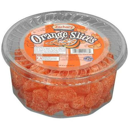 Zachary: Artificial Orange Flavored Slices Coated In Sugar Orange Slices, 32 oz