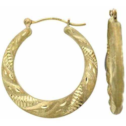 Simply Gold 10kt Gold Hoop Earrings Walmart