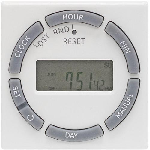 15089 Ge 7 Day Digital Timer 1 Outlet Polarized Wht