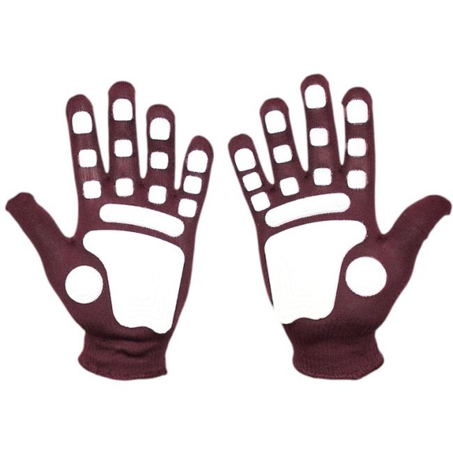 Fan Hands 999769 Clap-Enhancing Gloves  Maroon - Large-Extra Large