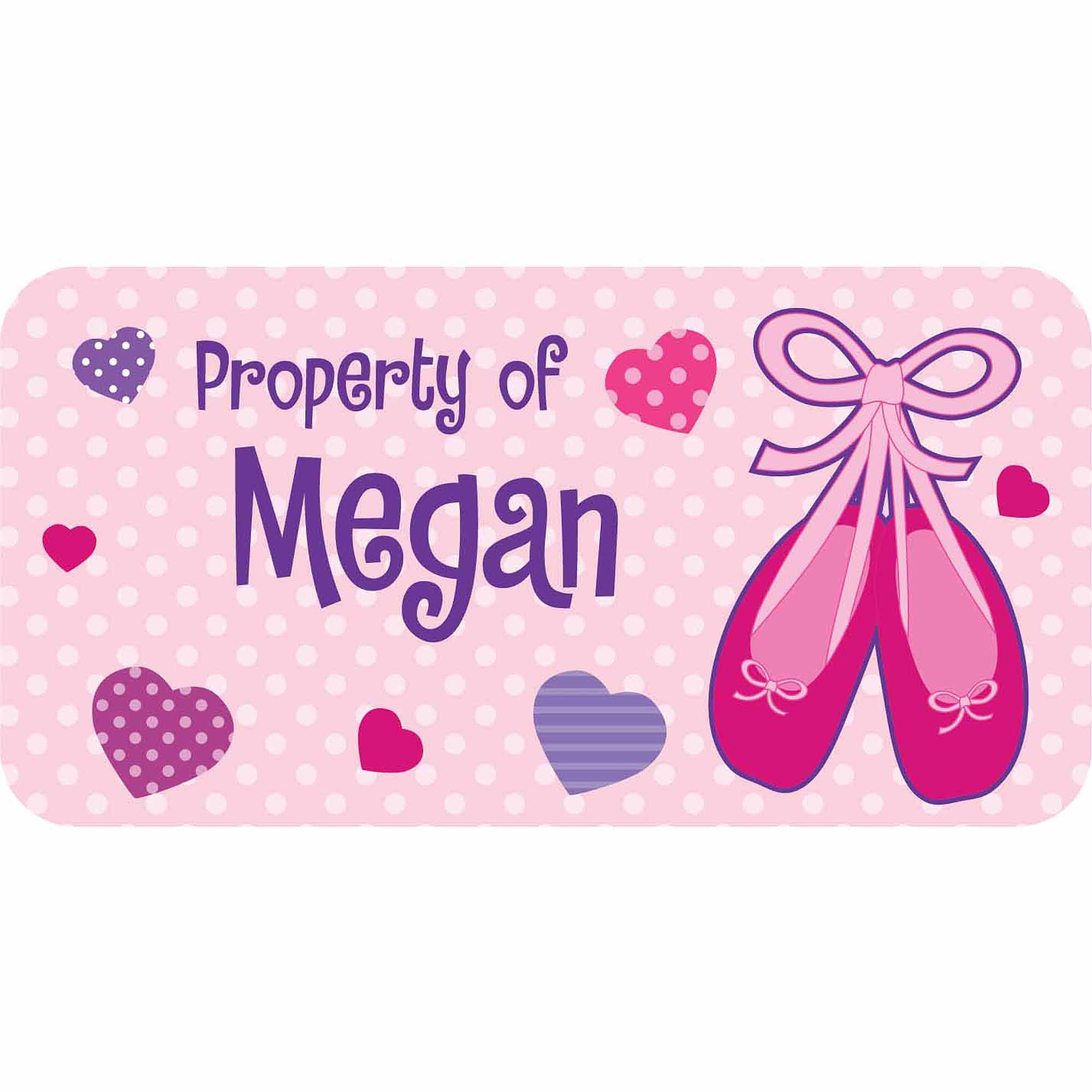 Personalized Kids Property Labels, Ballet