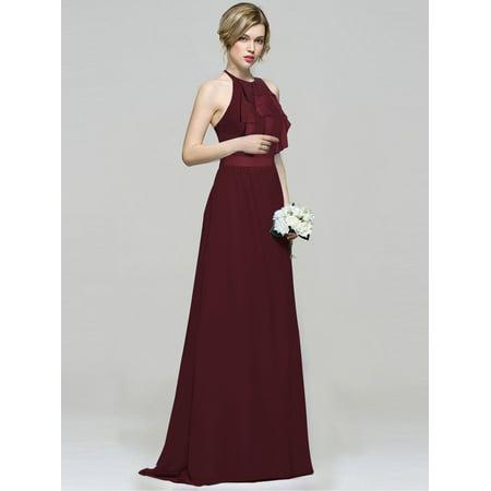 Ever-Pretty - Ever-Pretty Womens Plus Size Halter Long Maxi ...