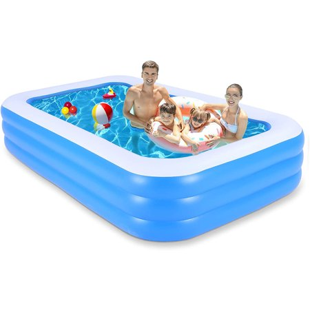 """SKONYON Inflatable Swimming Pool for Kids and Adults Above Ground Pools 120"""" x 72"""" x 22"""""""