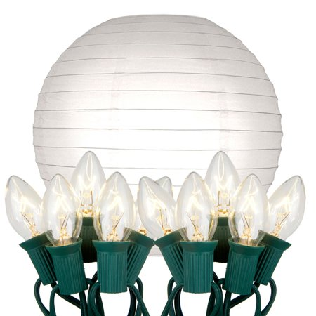 LumaBase Luminarias Electric String Lights with 10
