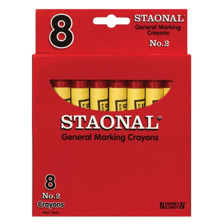 Crayola Staonal General Marking Crayon, Red, Pack of 8 (Red Crayola Crayon)