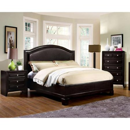 Furniture of america 3 piece transitional style bedroom for Transitional bedroom furniture