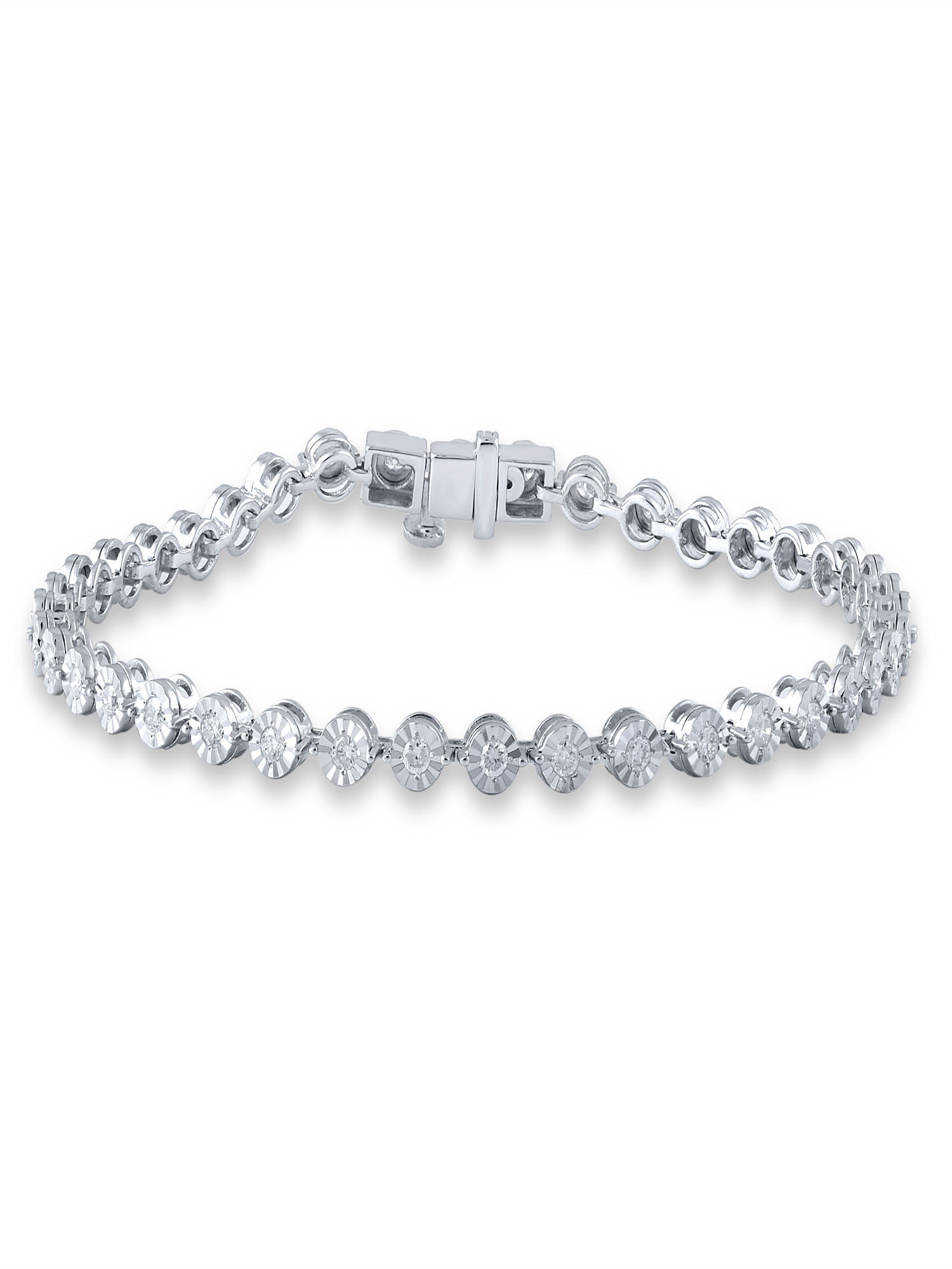 1 cttw Diamond Bracelet, 14kt White Gold