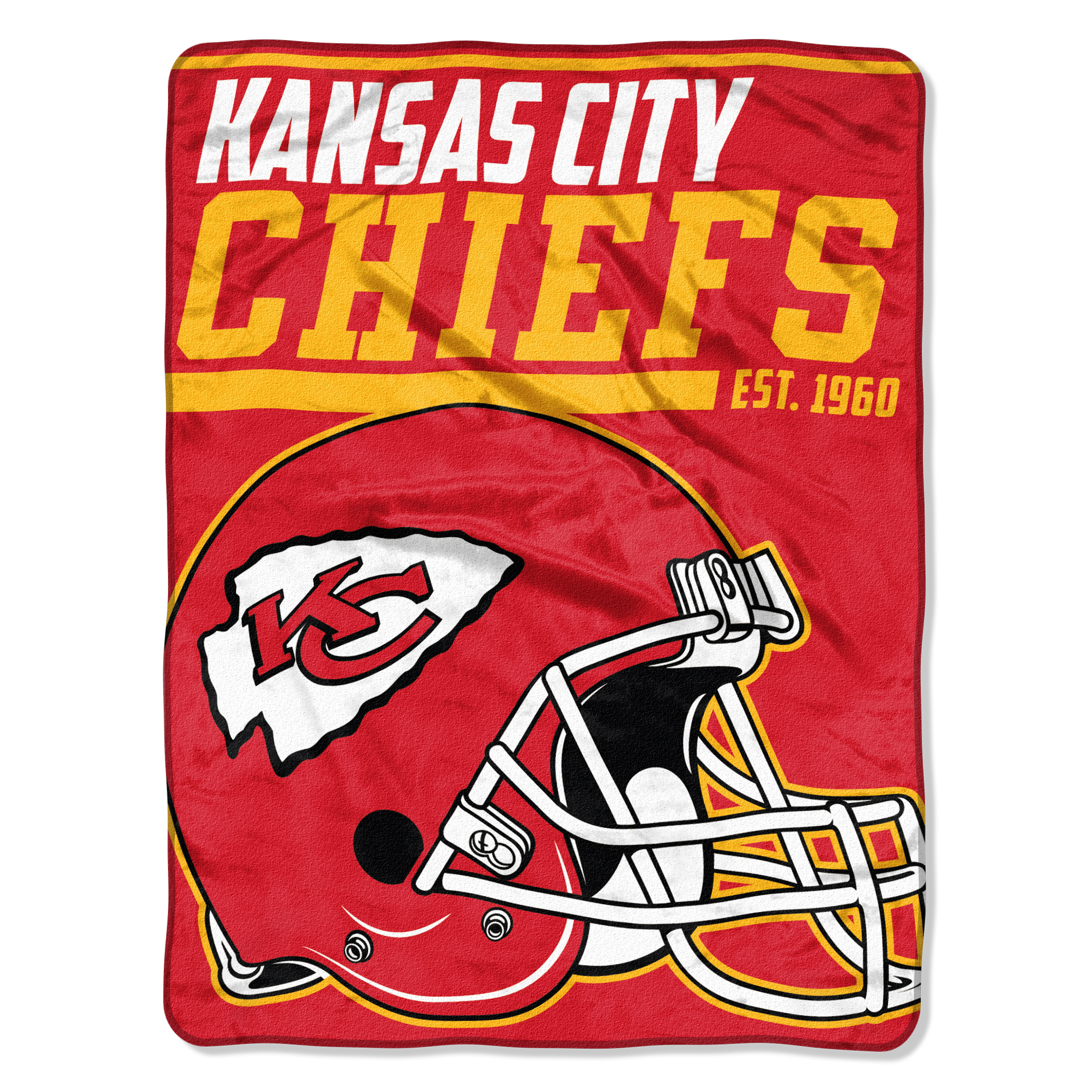"NFL Kansas City Chiefs ""40-Yard Dash"" 46""x 60"" Micro Raschel Throw"