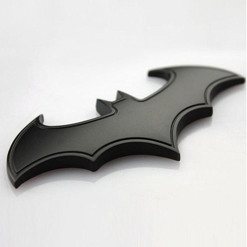3D Metal Car Stickers Cool Bat Styling Batman Badge Emblem Tail Decal Motorcycle