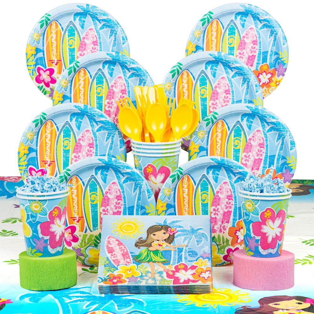Hula Beach Party Deluxe Kit (Serves 8) - Party Supplies