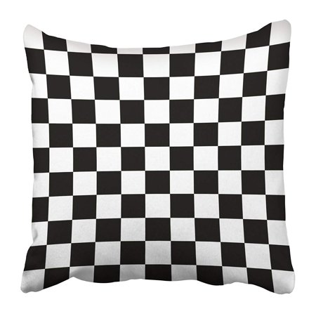 ARHOME White Checkerboard Modern Black Checkered Chequered Abstract Champion Championship Pillow Case Cushion Cover 18x18 inch - Black & White Checkered