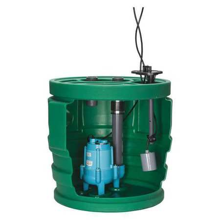 Sewage System,4/10HP,4inx2in,8.5A,18-3 LITTLE GIANT 9JF2V2D