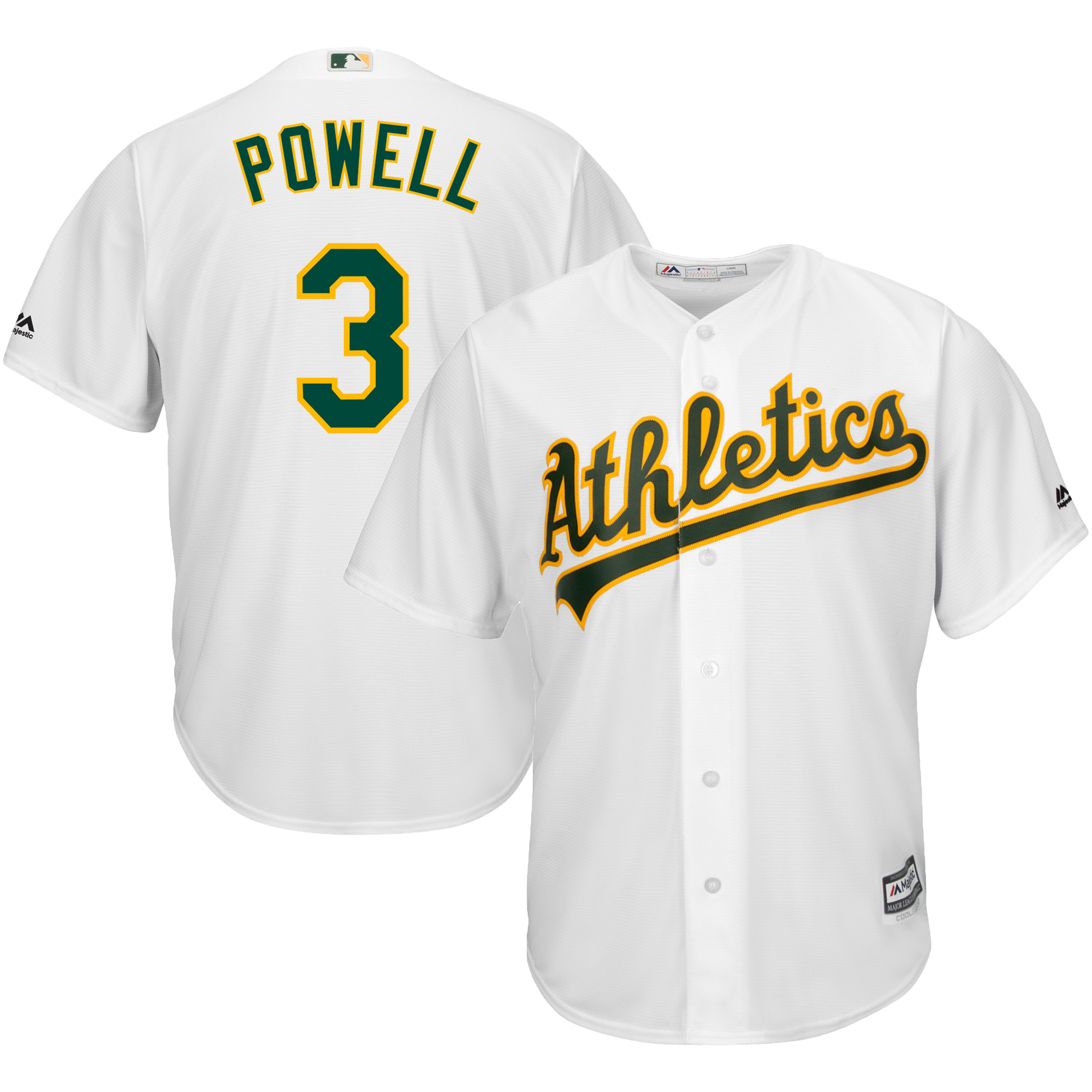 Boog Powell Oakland Athletics Majestic Home Cool Base Player Jersey - White