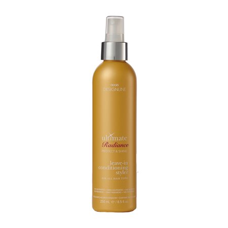 Ultimate Radiance Leave-In Conditioning Styler, 8.5 oz - DESIGNLINE - Deep Conditioner Treatment that Reconstructs Damaged Hair and Repairs Split