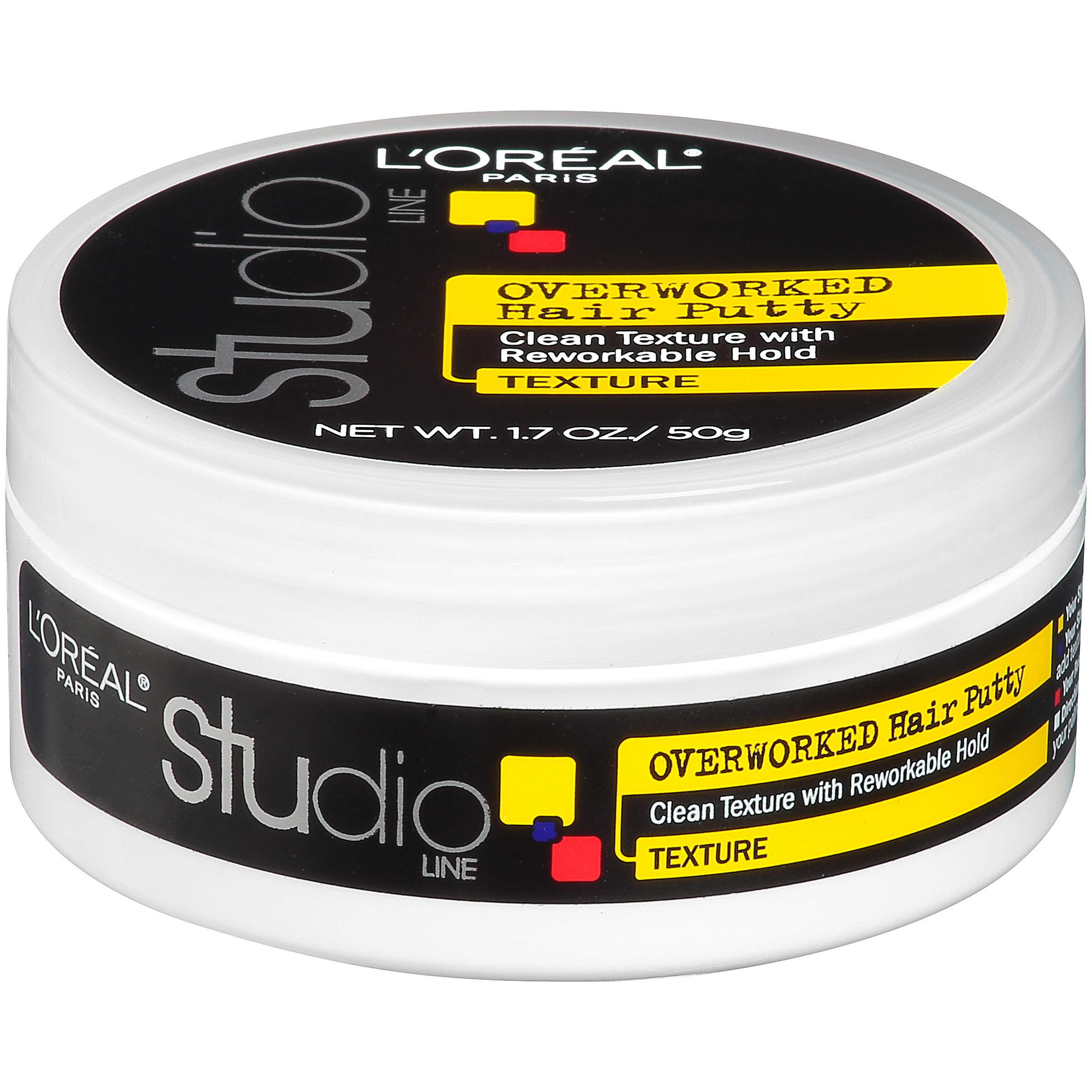 L'Oreal Paris Studio Line Overworked Hair Putty 1.7 oz. Tub