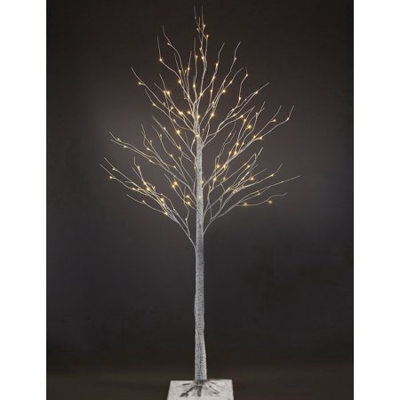 Patch Magic 7 ft. LED Lighted White Artificial Birch Christmas Tree with 120 LEDs](Magic Christmas Tree)