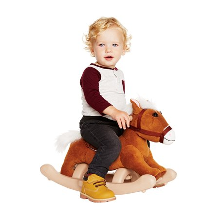 Snail Rocker - Kiddieland Plush Brown Pony Rocker