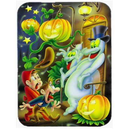 Scary Ghosts & Halloween Trick or Treaters Mouse Pad, Hot Pad or Trivet](Healthy Treats For Halloween Trick Or Treaters)