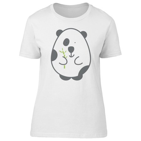 Egg Shaped Panda With Bamboo Tee Women's -Image by (Bamboo Tee Shirts)