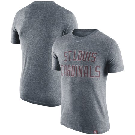 St. Louis Cardinals Nike Tri-Blend DNA Performance T-Shirt - Heathered Navy