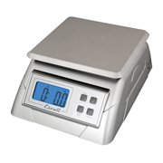 """Escali Alimento 136DK Ultra Accurate Scale for Kitchen, Lab or Office, Removable Platform, Digital LCD Display, 13.2lb Capacity, Stainess Steel, 9.75"""" x 7.00"""" x 3.75"""", Stainless and White"""