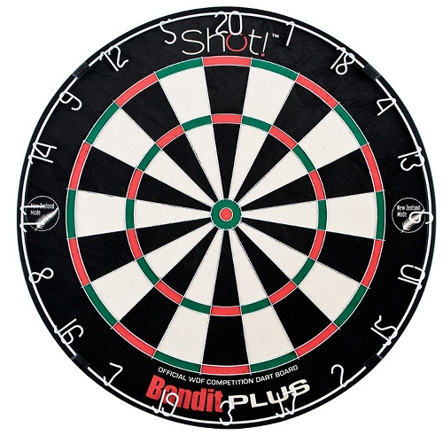 Shot! Bristle Dartboard - Bandit Plus