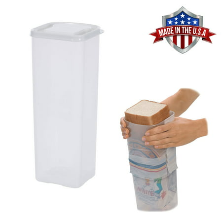 Bread Keeper Sandwich Bread Box Holder Dispenser Crush-Proof Kitchen Travel Container