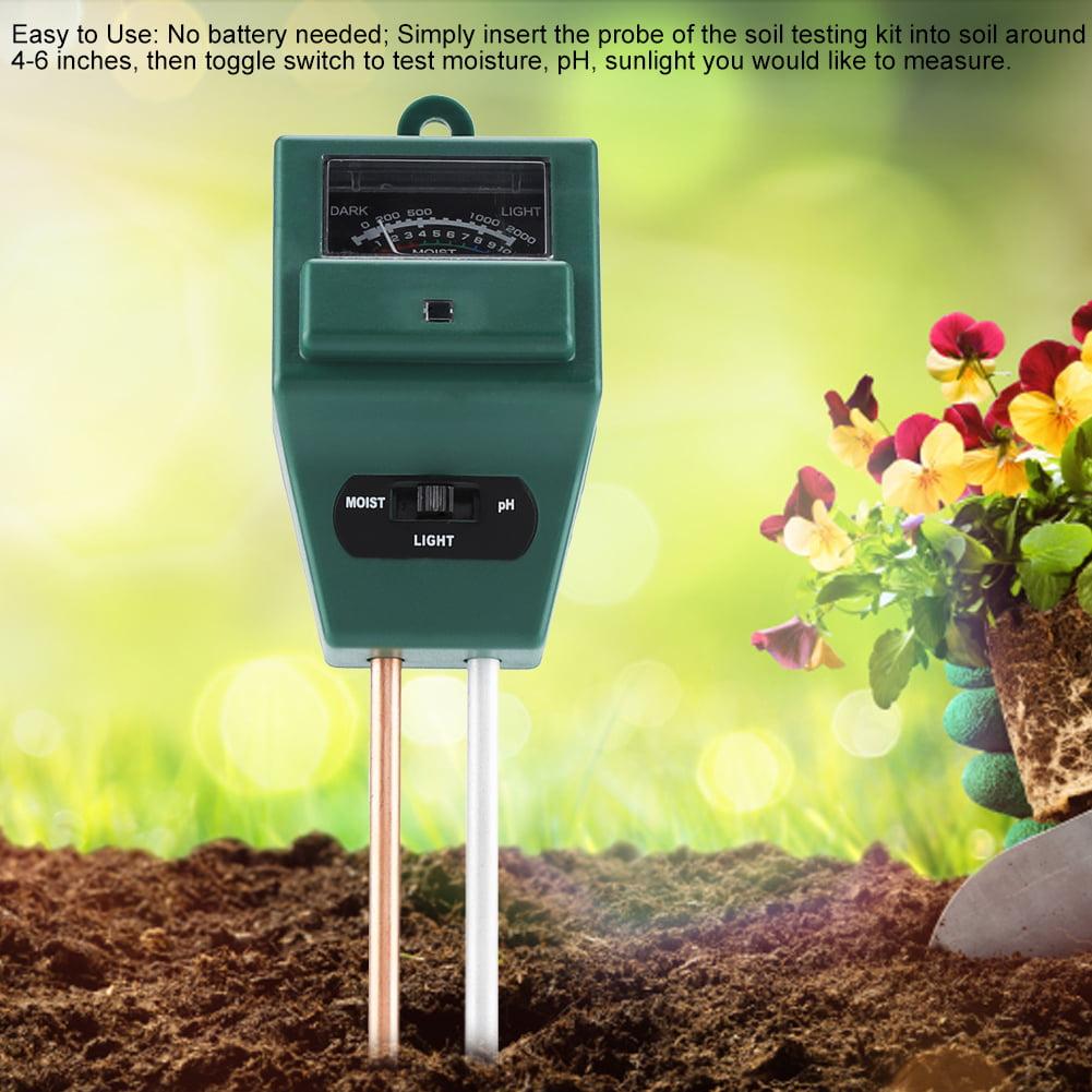 Capteur dhumidit/é 3 en 1 pH du sol Hydrom/ètre de capteur de contr/ôle pour les plantes