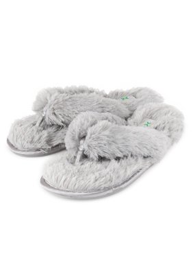 Roxoni Women's Plush Faux Fur Flip Flops, 4 colors -sizes 6 to 11.5 -style #2128