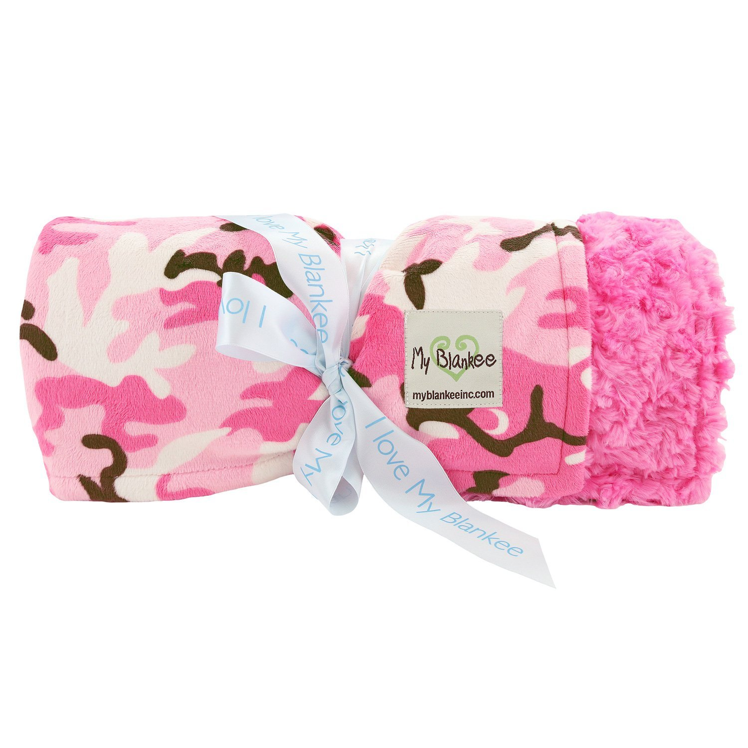 My Blankee Pink Camouflage W/ Luxe Snail Back Throw Blank...