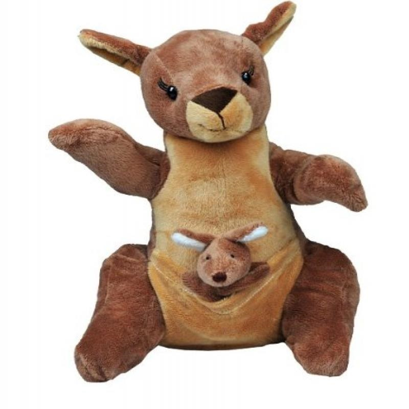 15 Inch Recordable Voice Kangaroo With Baby Joey Walmart Com