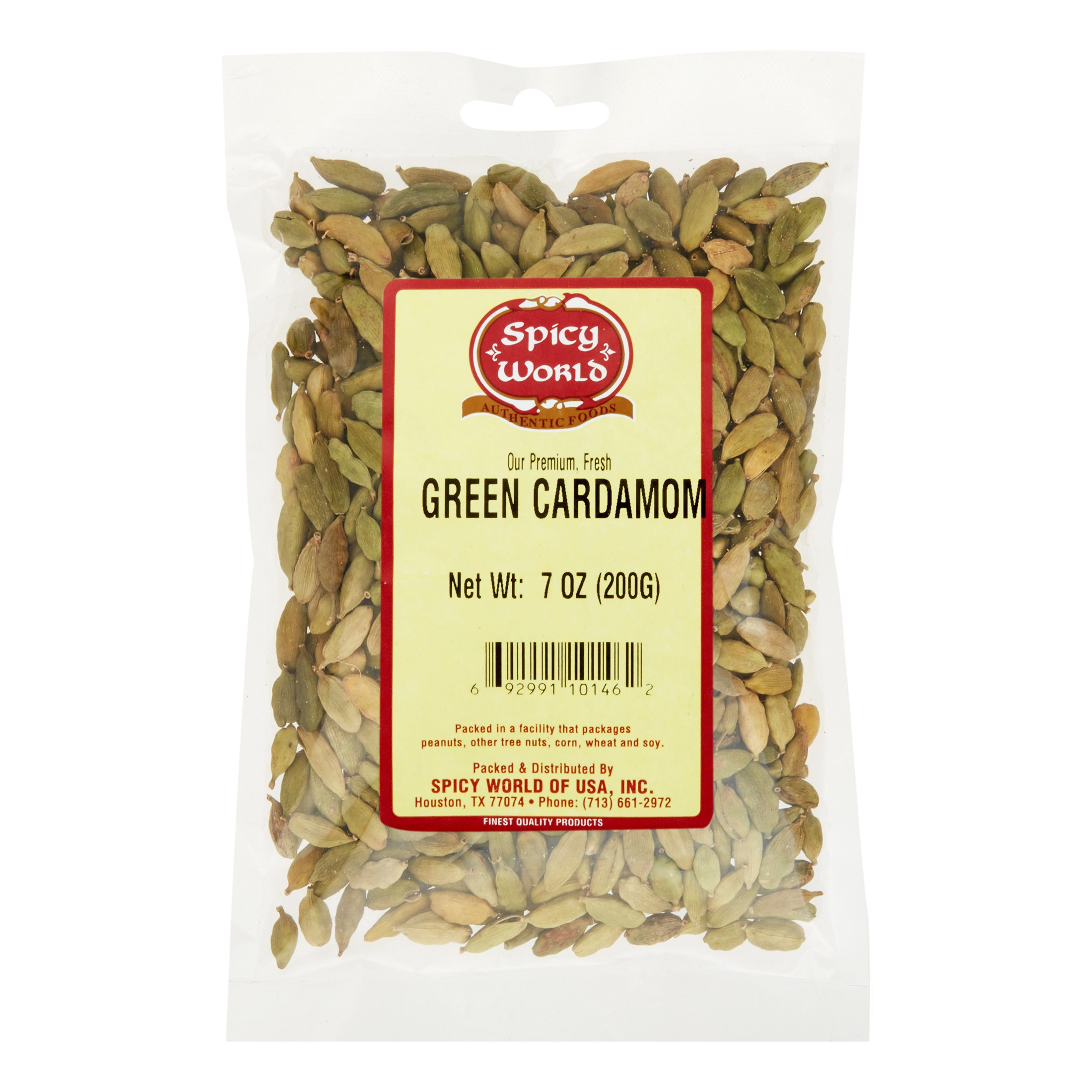 Spicy World Green Cardamom Pods Whole, 7 Oz