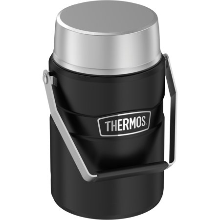 Thermos SK3030BKTRI4 47-Ounce Stainless King Big Boss Stainless Steel Food Jar with 2 Inner Containers (Black)](Big Jar)