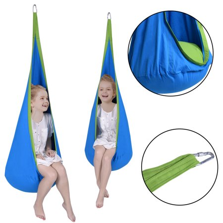 Remarkable Costway Child Pod Swing Chair Tent Nook Indoor Outdoor Hanging Seat Hammock Kids Pabps2019 Chair Design Images Pabps2019Com