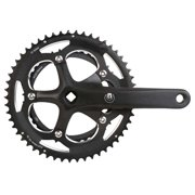 Eclypse, R9, Crankset, 9 sp., 175mm, 39/53T, BCD:130mm, Square, Black