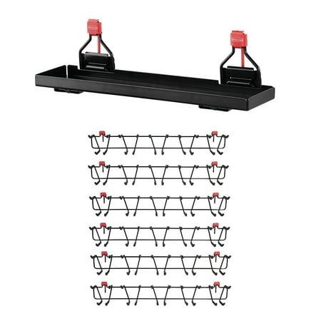"Rubbermaid Metal Shed Shelf & 50lb Capacity 34"" Storage Shed Tool Rack (6-pack)"