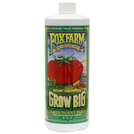 Image of Fox Farm FX14092 Grow Big Liquid Concentrate Fertilizer, Soil NPK 6-4-4, 1-Pint (3, 1 pint)