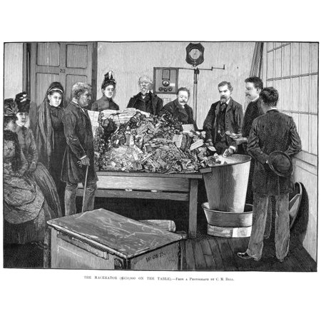 Currency Macerator 1890 Nthe Bureau Of Engraving And Printing Washington DC Line Engraving 1890 Rolled Canvas Art -  (24 x 36) Bureau Engraving Washington Dc