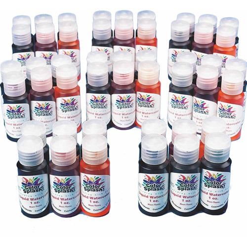 Color Splash! Liquid Watercolors Pass Around Pack, 1 oz, Pack of 48